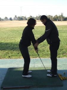 Principiantes de golf